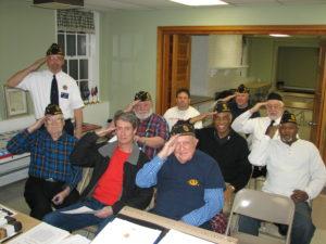 Members of American Legion F.W. Grigg Post 68.
